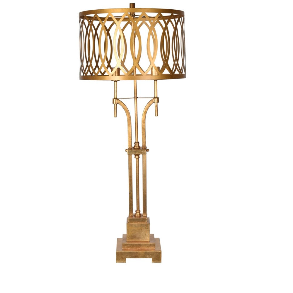 Gold Metal Scallop Table Lamp, Home Accessories, Laura of Pembroke