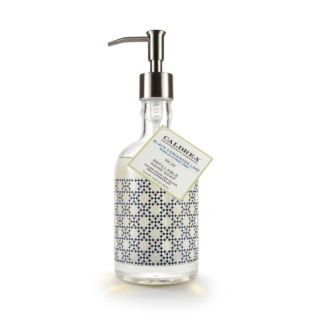 Black Coriander Lime Glass Refillable Hand Soap