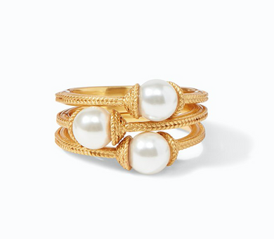 Calypso Pearl Stacking Ring