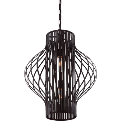 Capra 2 Light Pendant in English Bronze