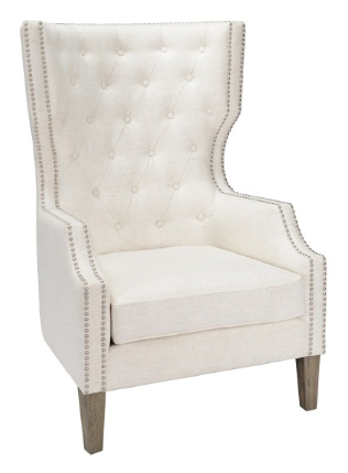 Club Chair with Nailhead Finish