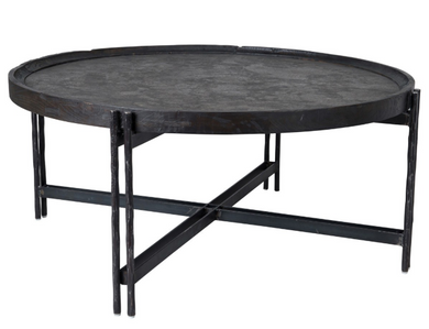 Iron Round Coffee Table, Home Furnishings, Laura of Pembroke
