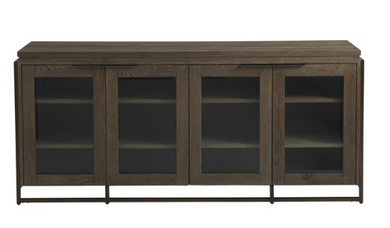 4 Glass Door Entertainment Console