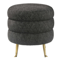 SALE Black Tweed Ottoman