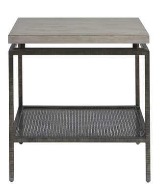 Concrete Square Top End Table