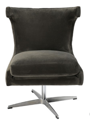 Dark Gray Swivel Chair