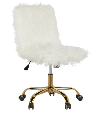 Sheepskin Desk Chair, Home Furnishings, Laura of Pembroke
