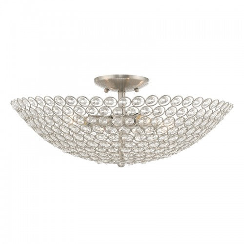 Cassandra 4 Light Brushed Nickel Ceiling Mount, Lighting, Laura of Pembroke