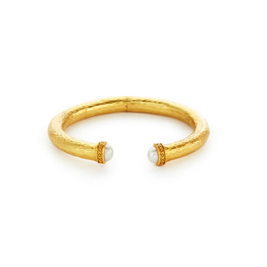 Catalina Small Hinge Cuff Gold Pearl