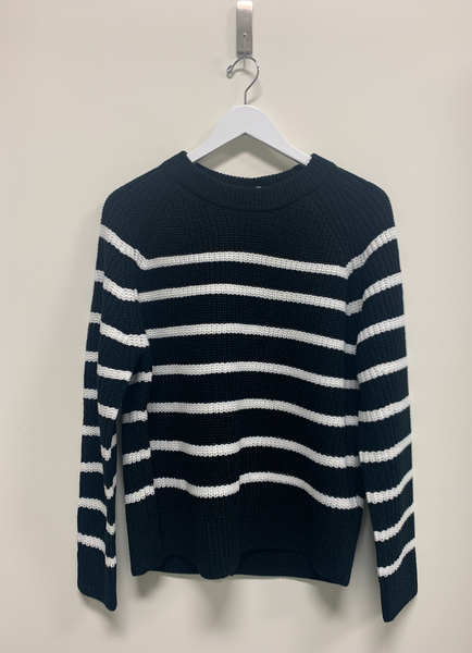 Cerelia Black and White Stripe Sweater
