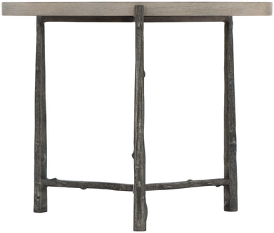 Cerused Greige Chair Side Table