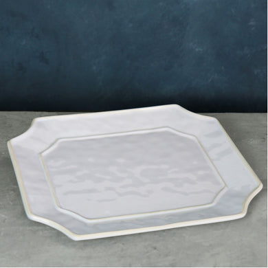 Large Charleston Blue Rectangular Platter