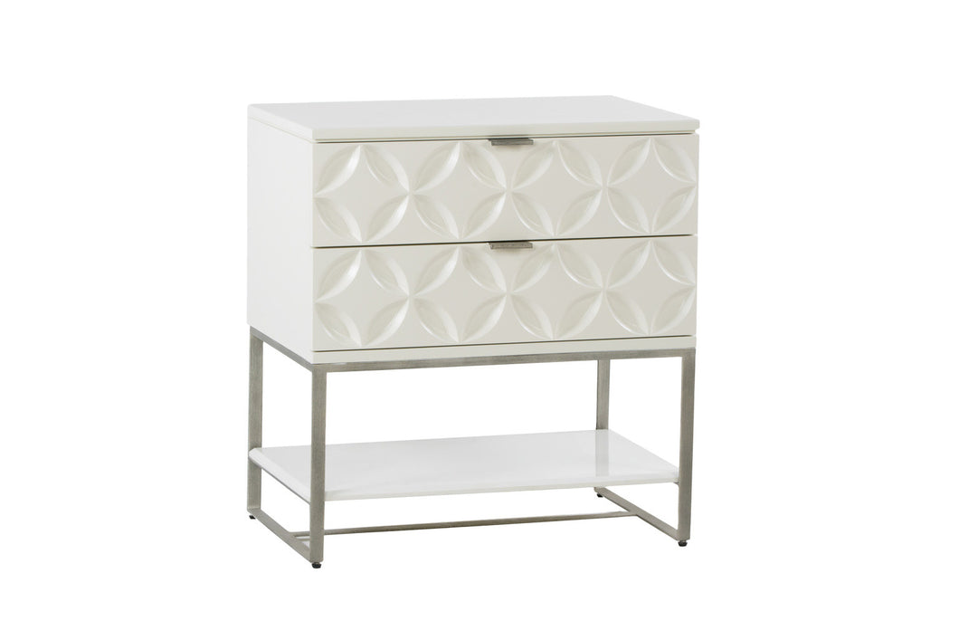 White 2 Drawer Chest
