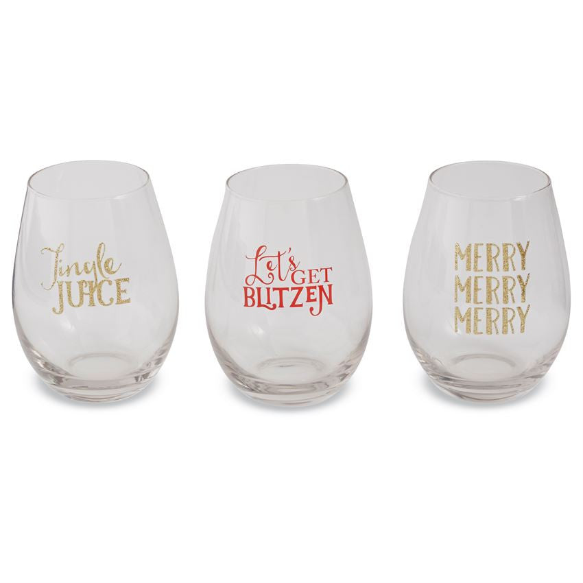 Christmas Wine Glass Stemless