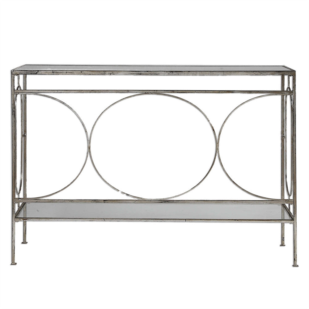 Circle Detail Console Table, Home Furnishings, Laura of Pembroke
