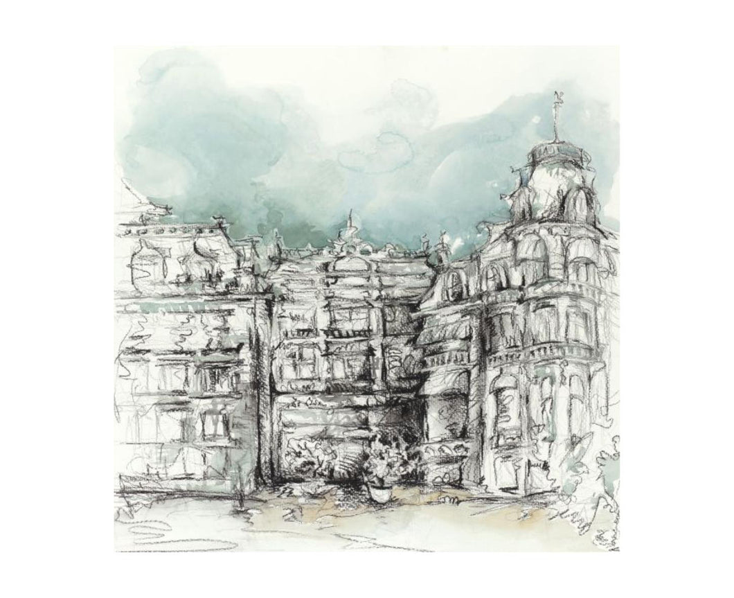 City Sketch II 30X30, Home Accessories, Laura of Pembroke