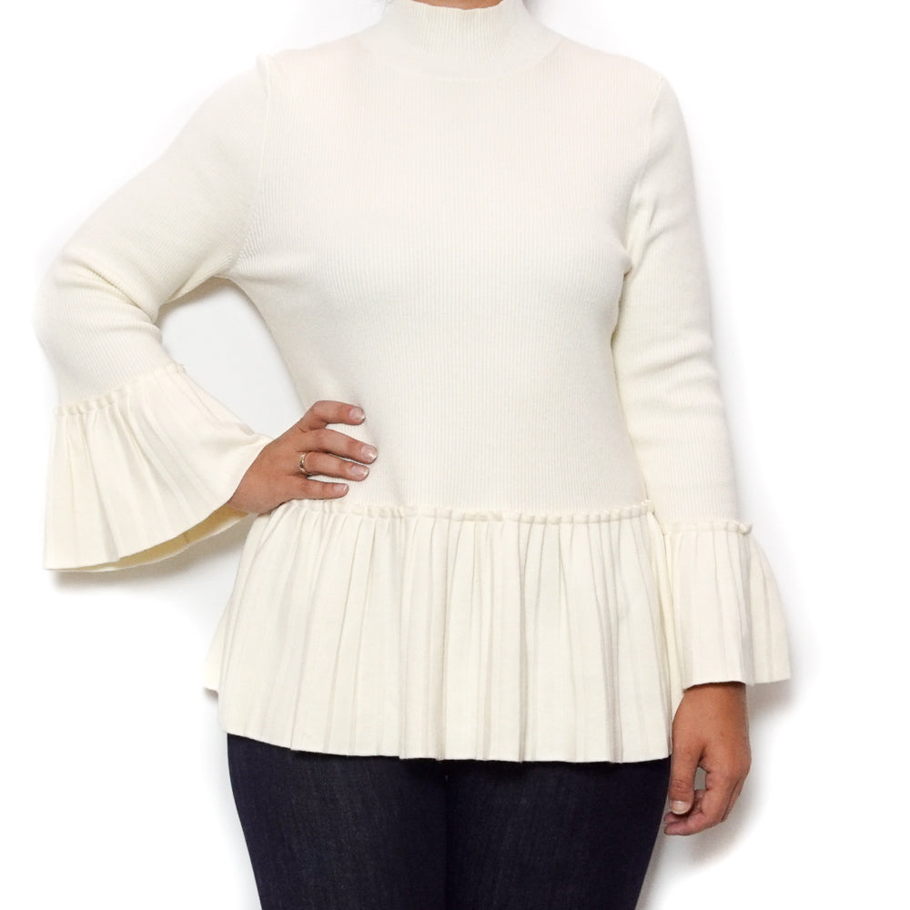 Pleat Rib Detail Sweater