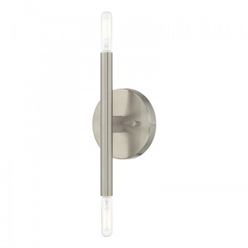 Copenhagen 2 Light Brushed Nickel Wall Sconce