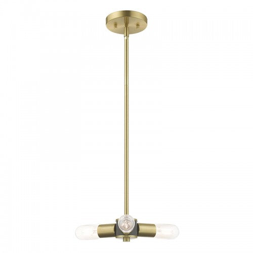 Copenhagen 3 Light Satin Brass Mini Chandelier, Lighting, Laura of Pembroke