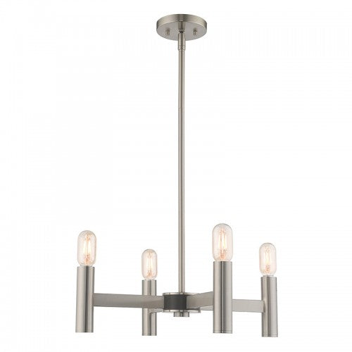 Copenhagen 4 Light Brushed Nickel Mini Chandelier, Lighting, Laura of Pembroke