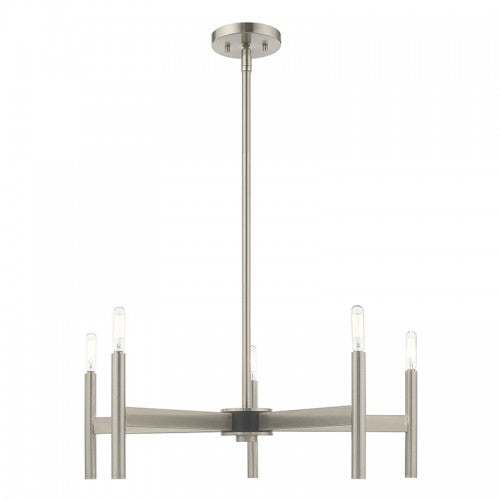 Copenhagen 5 Light Brushed Nickel Chandelier, Lighting, Laura of Pembroke
