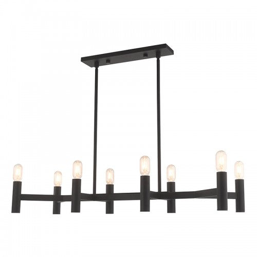 Copenhagen 8 Light Black Linear Chandelier, Lighting, Laura of Pembroke