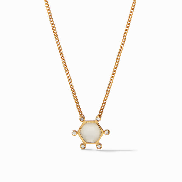 Cosmo Solitaire Necklace - Clear