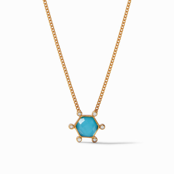 Cosmo Solitaire Necklace - Pacific Blue