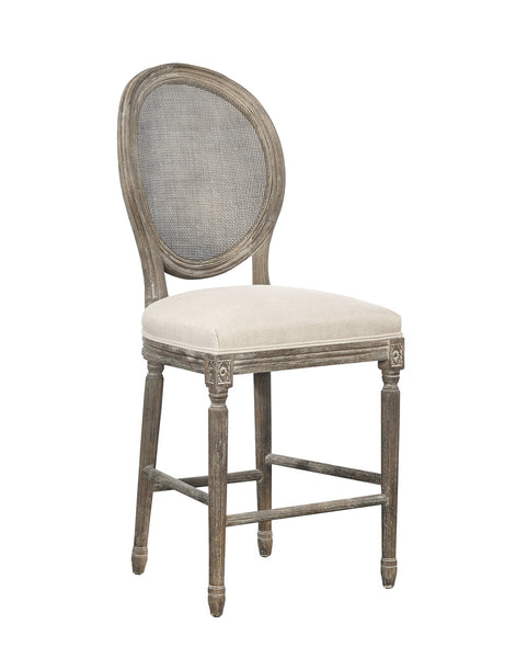 Counter Stool, Rattan Back