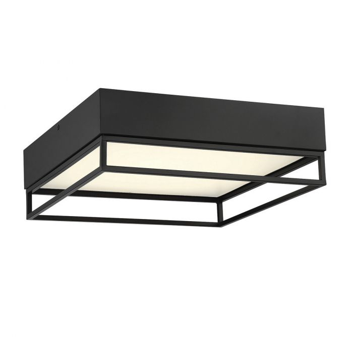 Creswell English Bronze Square LED Flush Mount