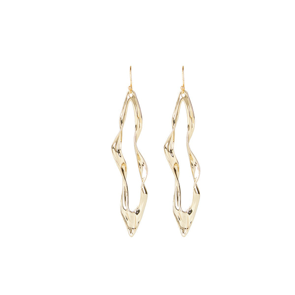 Crumpled Metal Wire Earring