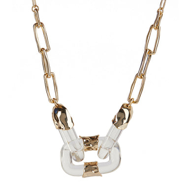 Crumpled Segment Soft Link Necklace