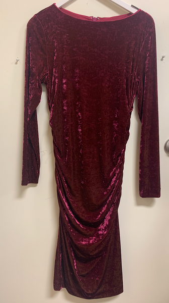 Crushed Velvet Boatneck Dress