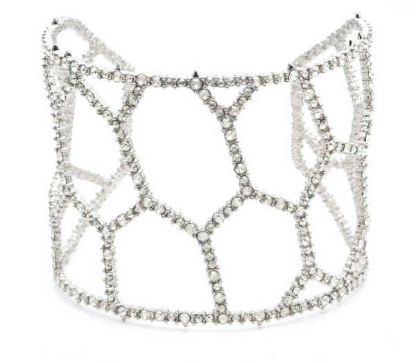 Crystal Encrusted Honeycomb Cuff