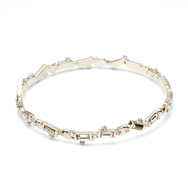 Crystal Baguette Bangle Bracelet