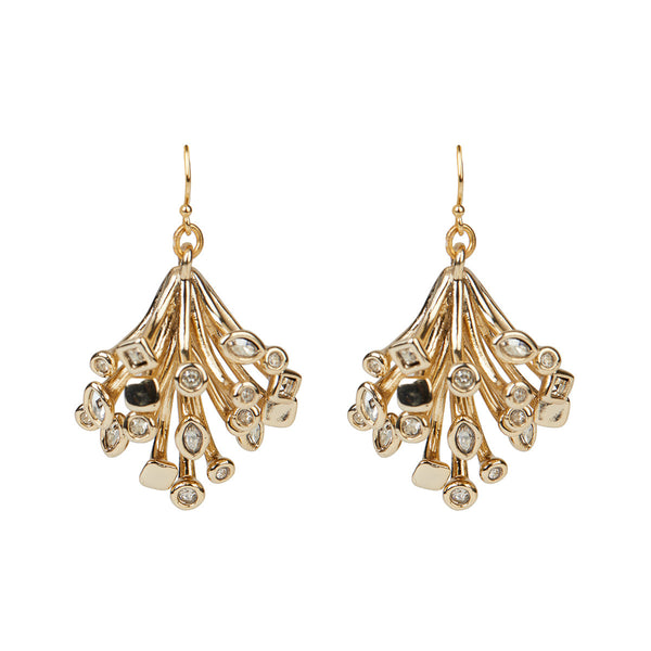 Crystal Burst Articulated Wire Drop Earring