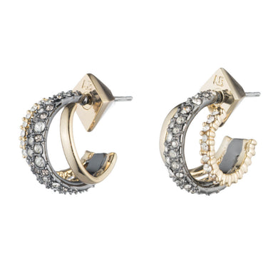 Crystal Encrusted Orbiting Hoop Earring