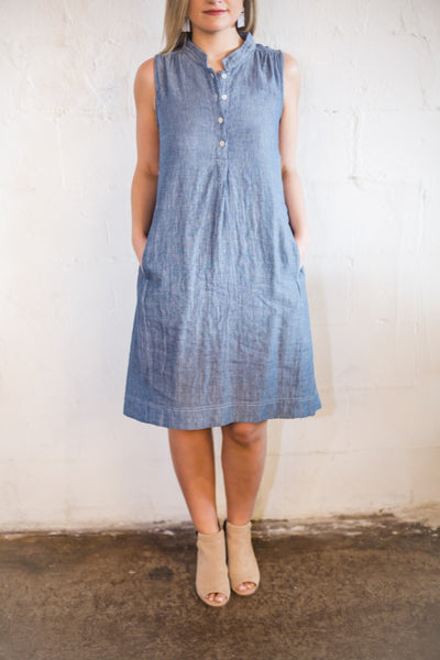 Denim Double Cloth Dress