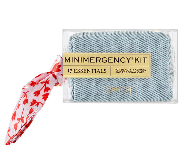 DENIM/FLOWER SCARF MINIMERGENCY KIT