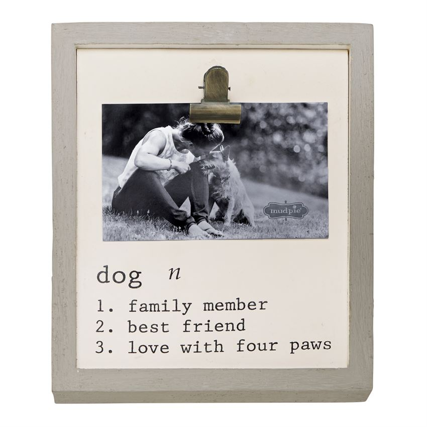 DOG DEFINITION BINDER CLIP FRAME