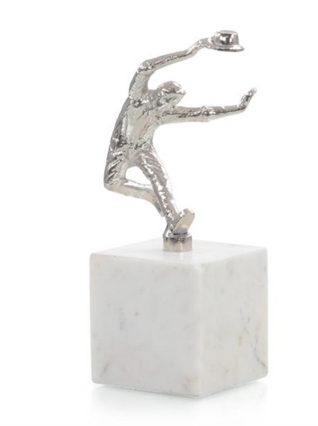 Dancing Men Sculpture III in Nickel