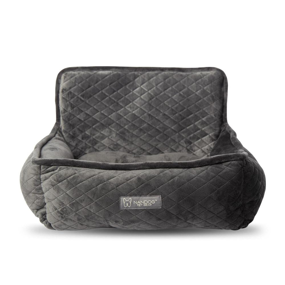 Dark Grey Dog Car Seat Bed