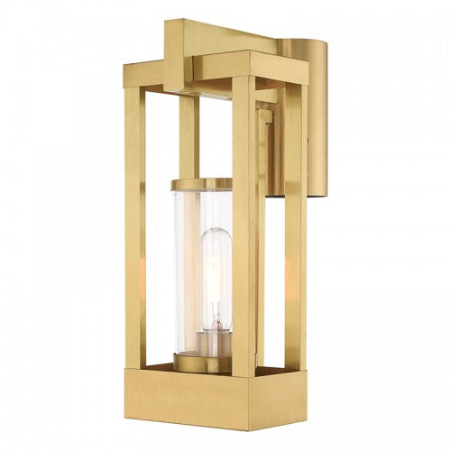 Delancey 1 Light Satin Brass Post Top Lantern, Lighting, Laura of Pembroke