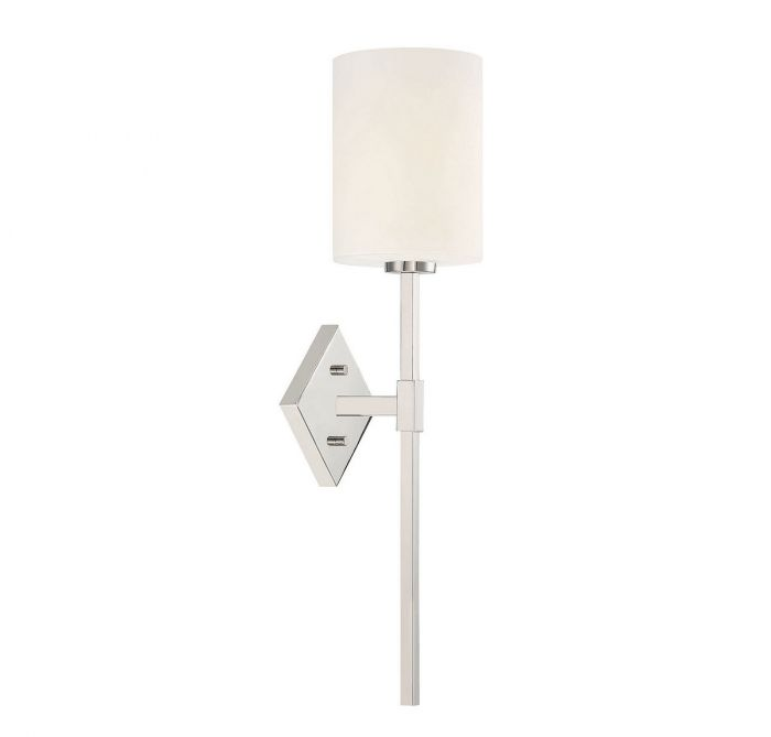 Destin 1 Light Polished Nickel Wall Sconce