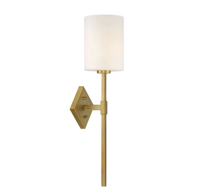 Destin 1 Light Warm Brass Wall Sconce