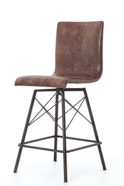 Diaw Bar Stool-Havana/Waxed Black