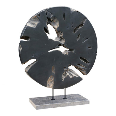 Round Grey Wood Art, Home Accessories, Laura of Pembroke