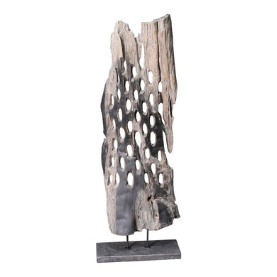 Wood Abstract Teak Sculpture, Home Accessories, Laura of Pembroke