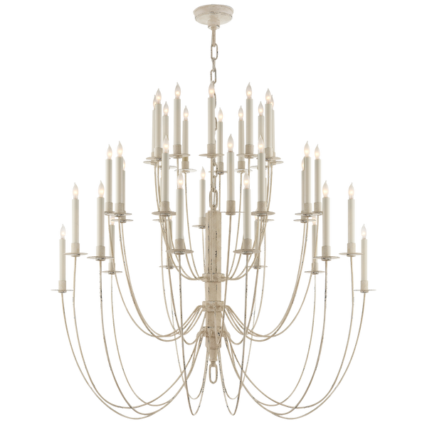 Erika Three-Tier Chandelier in Belgian White