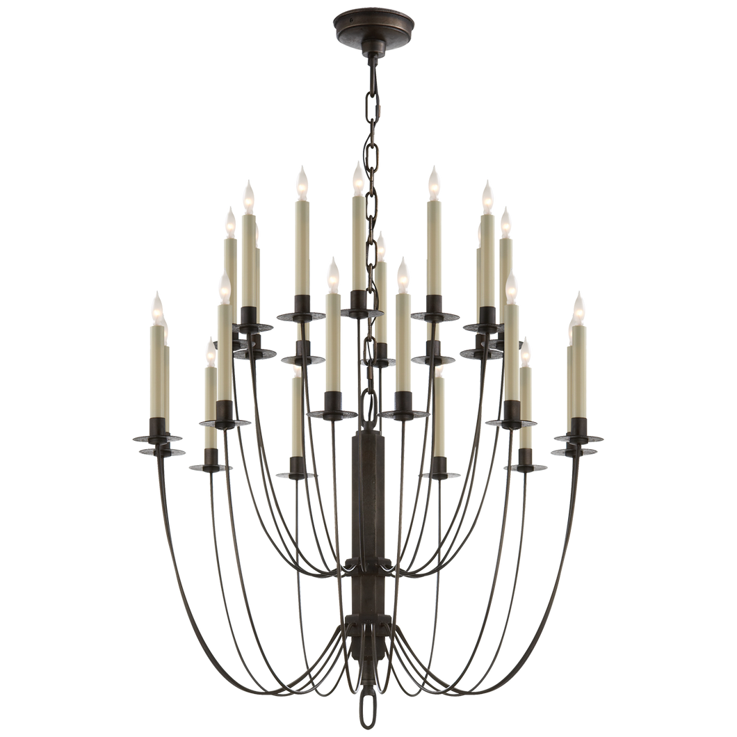 Erika Two-Tier Chandelier in Aged Iron